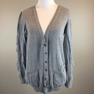 Madewell Gray Button Front Cardigan w/pockets